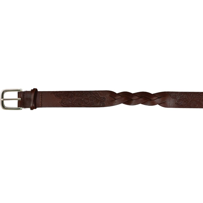 Belt Brown Leather Braid