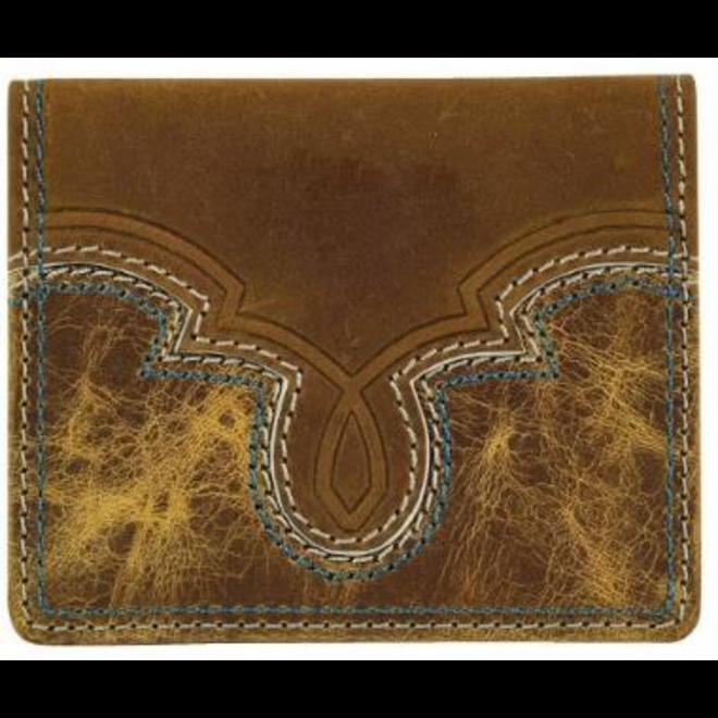 Front Pocket Card Case, Turq/Crm Stitch