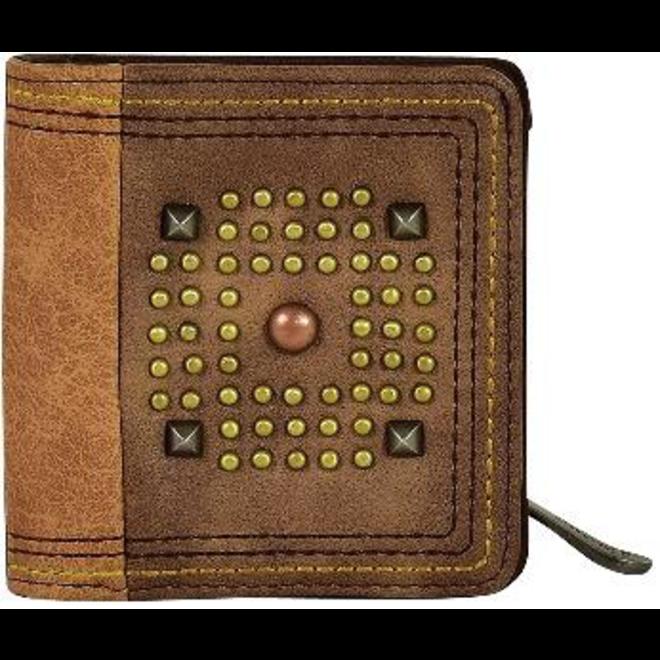 Small Wallet Mixed Metal Studs
