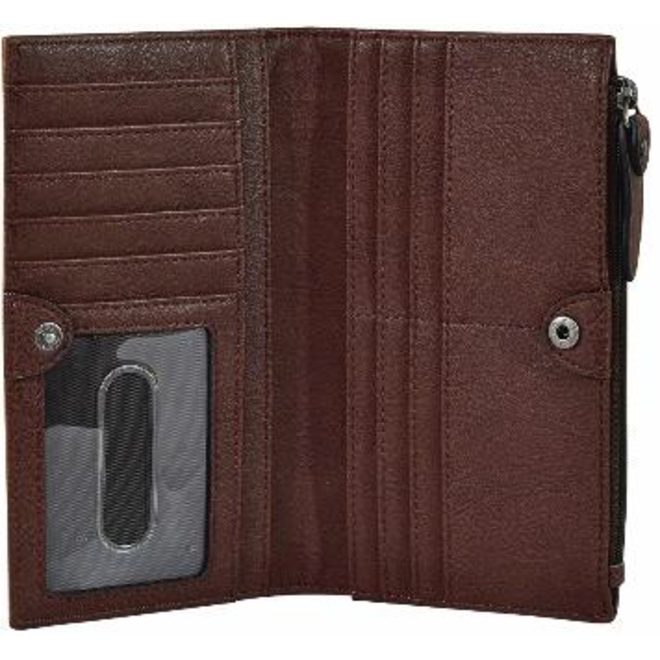 Wallet Cognac With Hair On