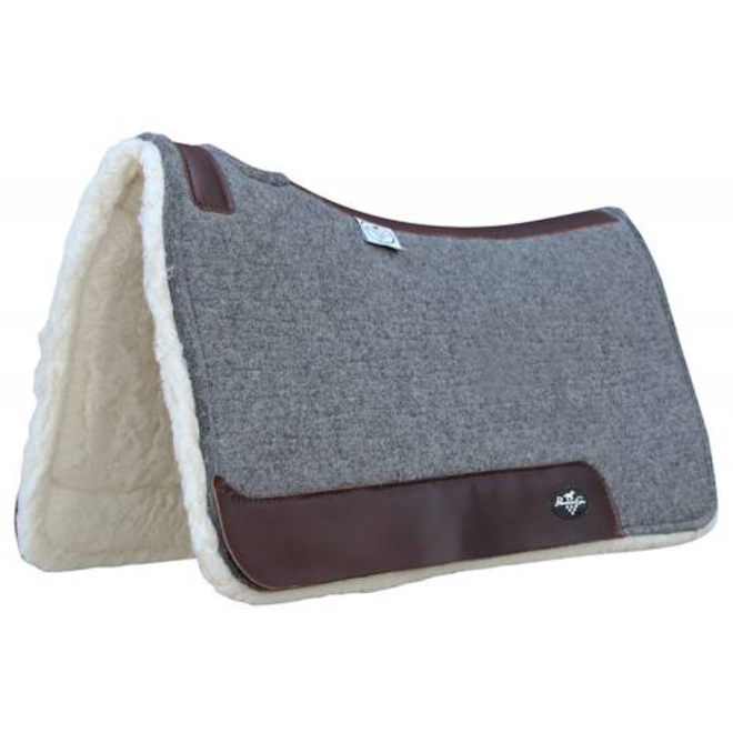 Deluxe 100% Wool Saddle Pad Fleece