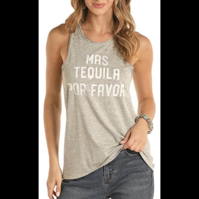 Mas Tequila Por Favor Graphic Tank