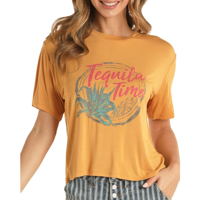 Tequila Time Cropped Tee