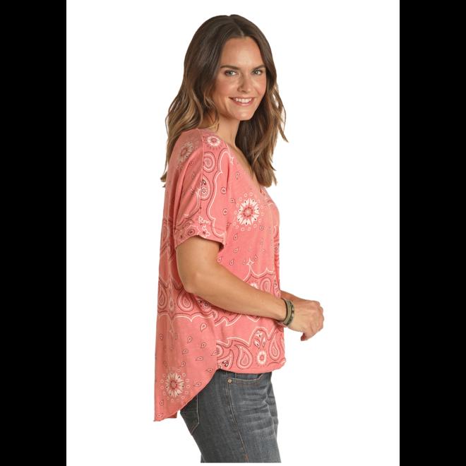 Rose Bandana Print Knit