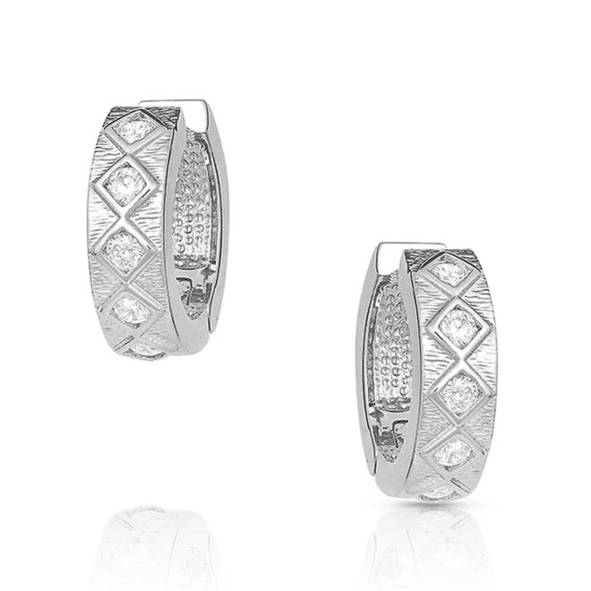 Argyle Shine Huggie Earrings