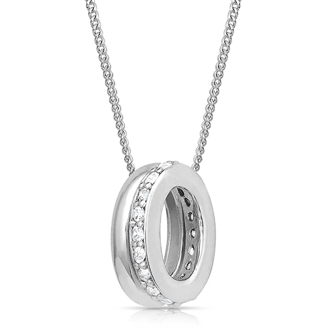 Duo Ring Sparkle Necklace