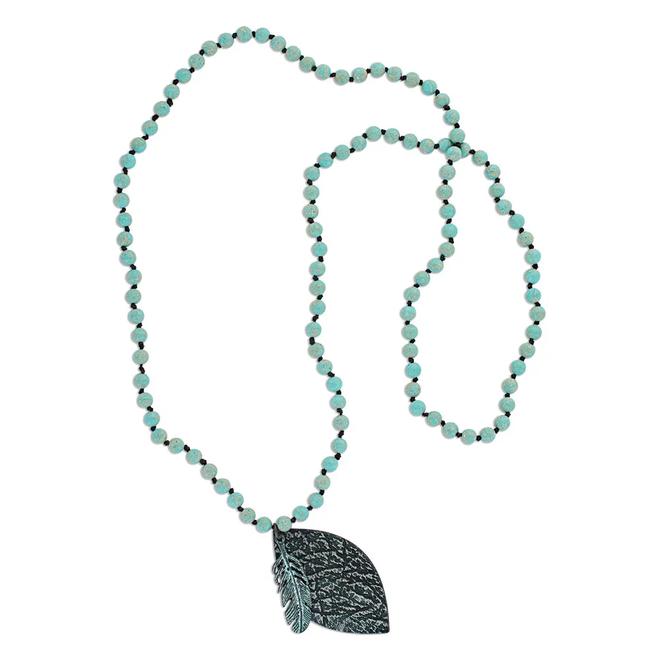 Flowingly Imprinted Attitude Necklace