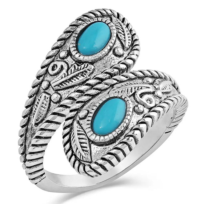 Balancing The Whole Turquoise Open Ring