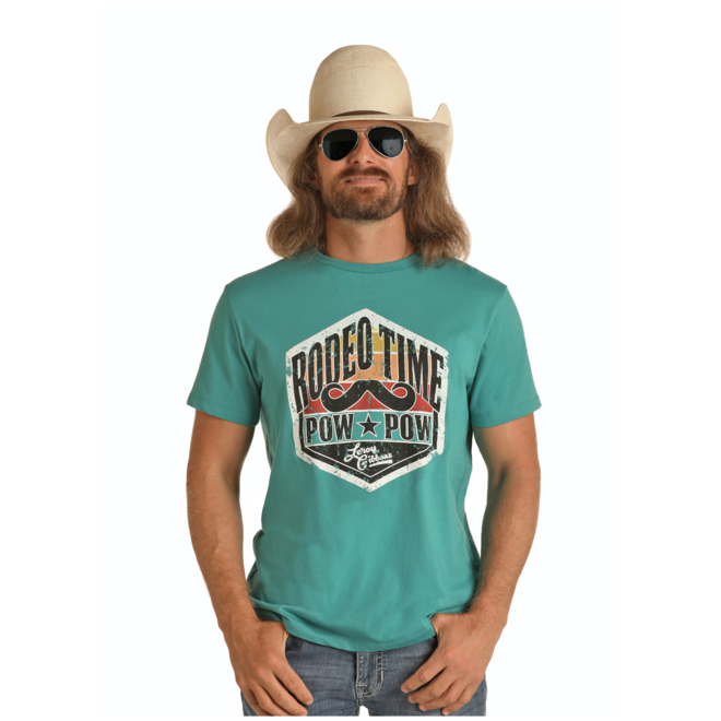 Mens Turquoise Graphic T-Shirt