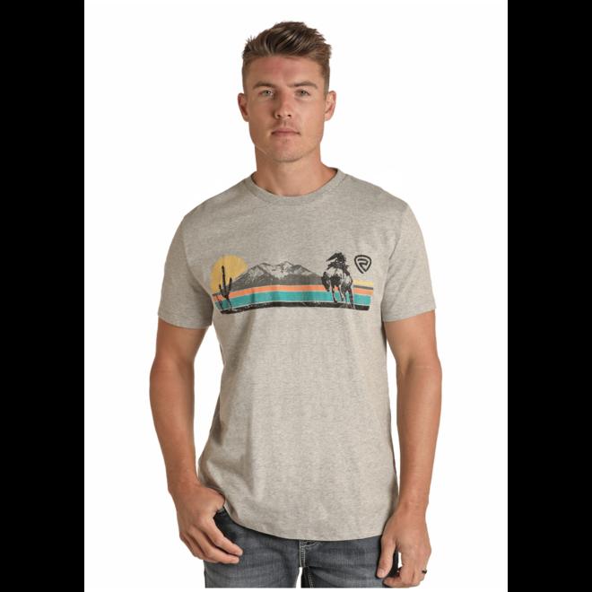 Mens Sunset Bronc T-Shirt
