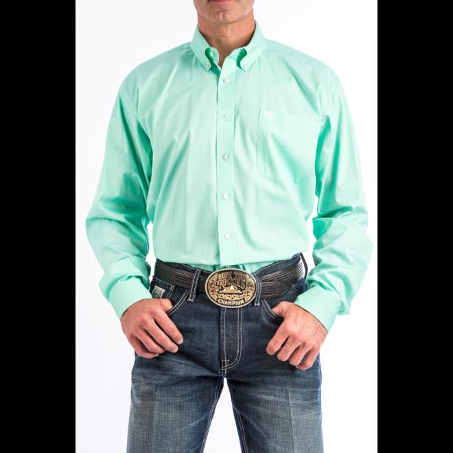 Mens Mint Green Button Shirt