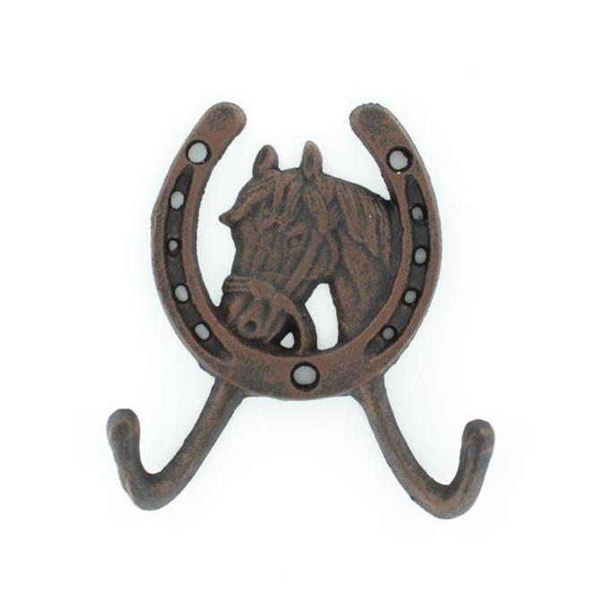 Horse Head Cast Iron Double Hook