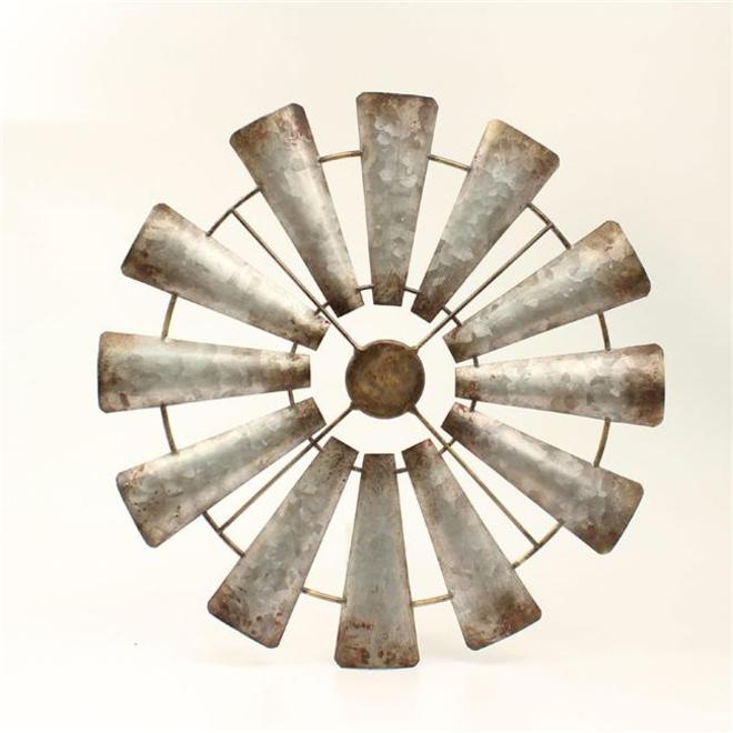 Metal Rustic Windmill Wall Decor