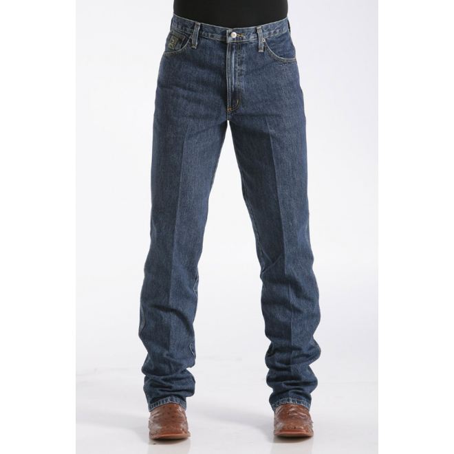 Mens Green Label Relaxed Fit Dark Jeans