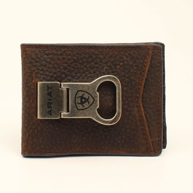 Brown Rowdy Bifold with Money Clip