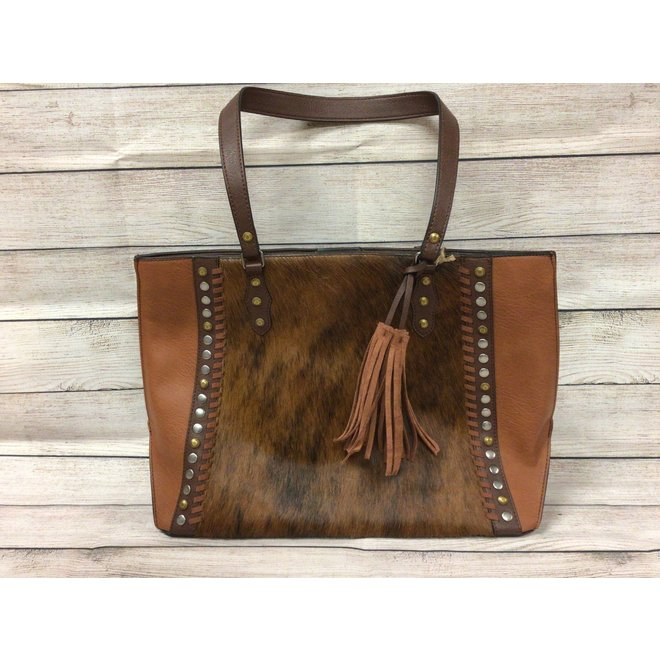 Tote Cognac With Hair On