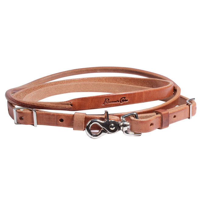 Round Center Leather Roping Rein