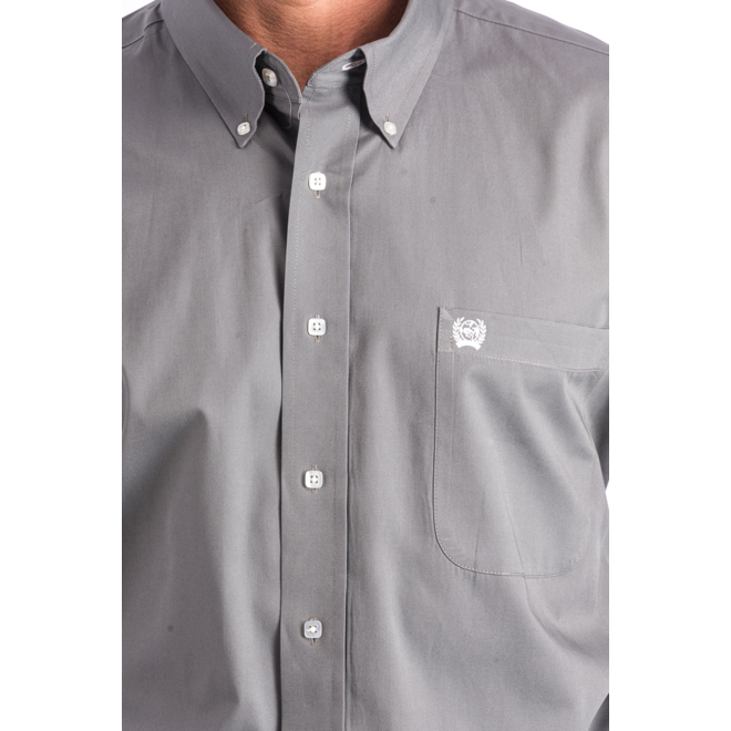 Solid Grey Button Shirt