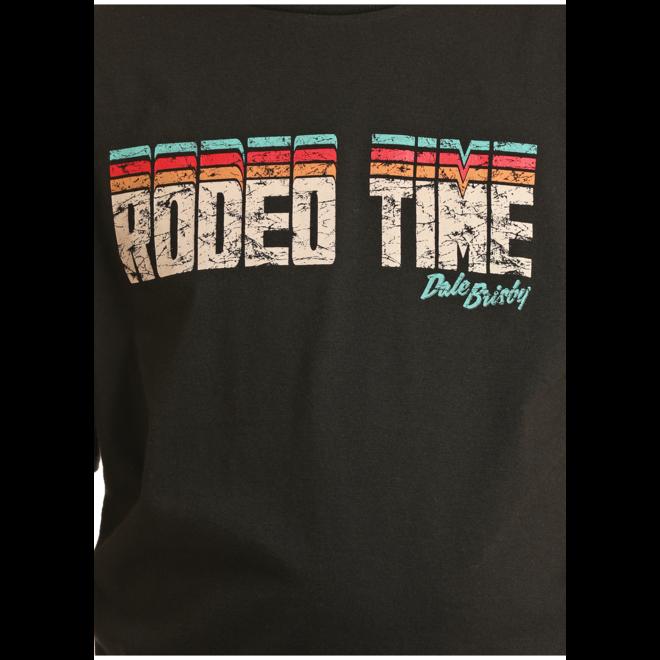 Boys Black Rodeo Time Tee
