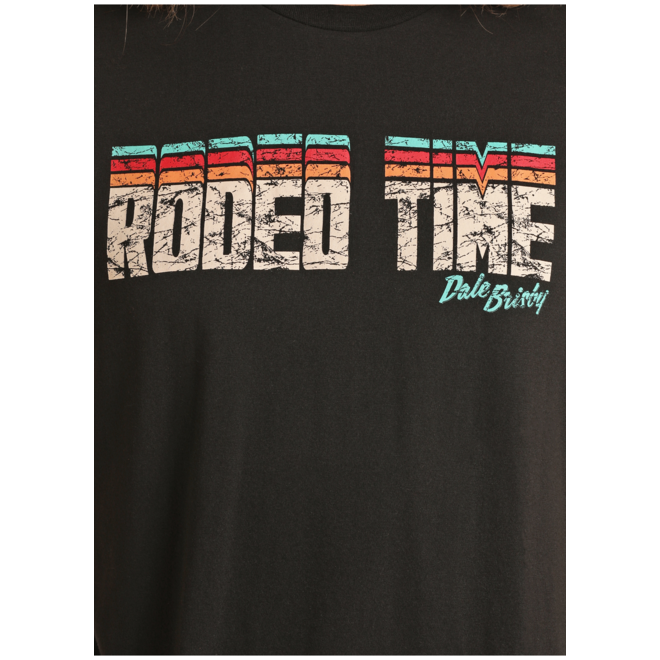 Mens Black Rodeo Time Tee