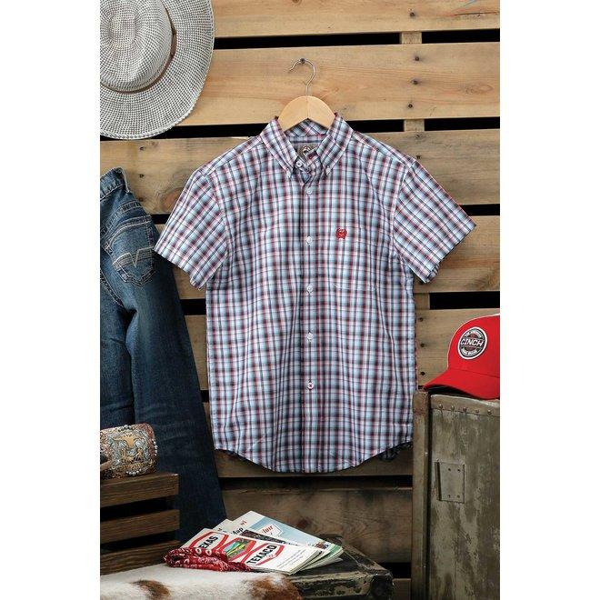 Blue Plaid Button Shirt