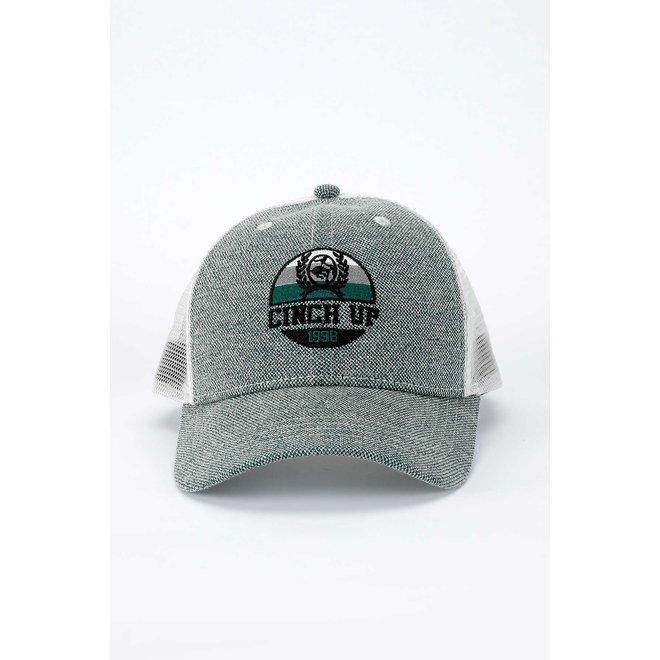 Multi Logo Grey Mesh Trucker