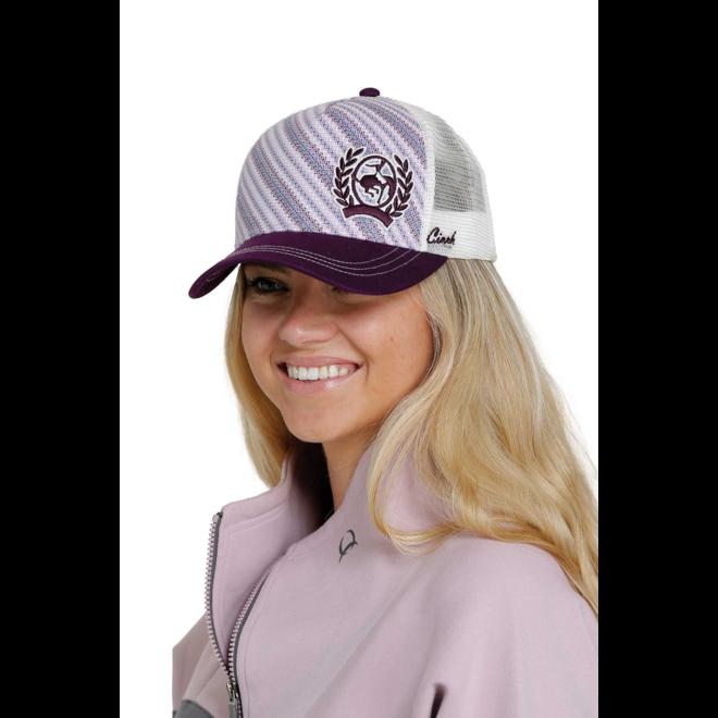 Women's Purple Cinch Mesh Trucker