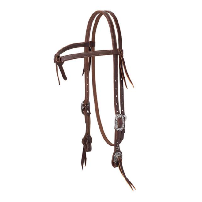 """Floral 5/8"""" Futurity Knot Browband"""