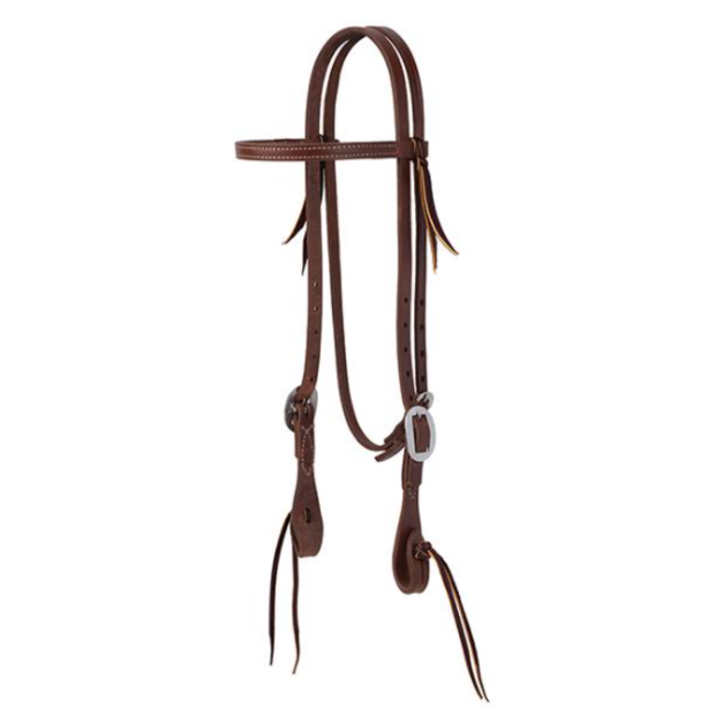 """Pineapple Knot 5/8"""" Straight Browband"""