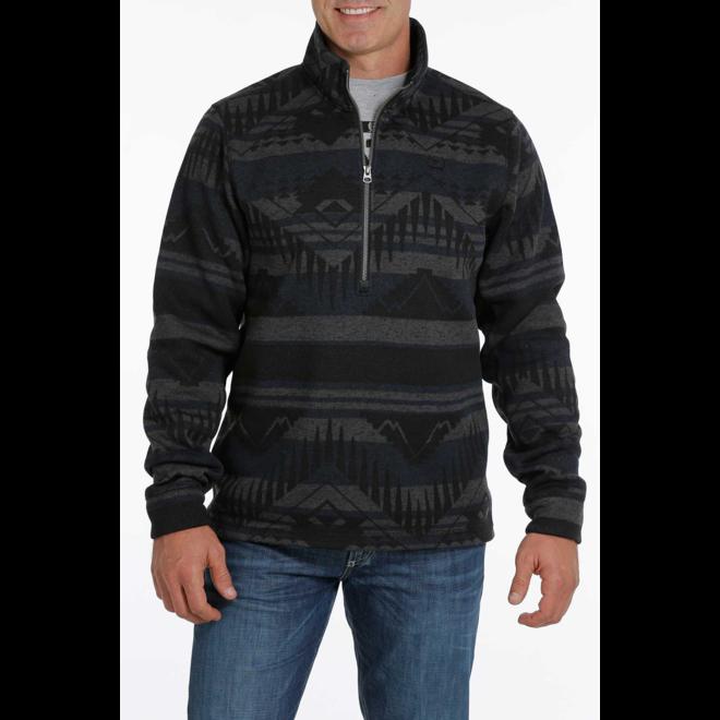 Blue Half Zip Sweater