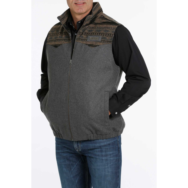 Charcoal Wooly Blanket Vest