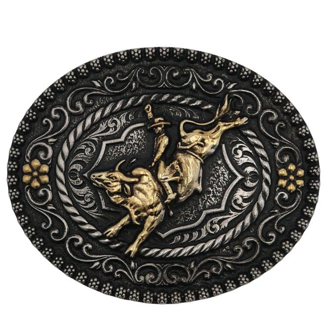 Polished Bull Rider Buckle