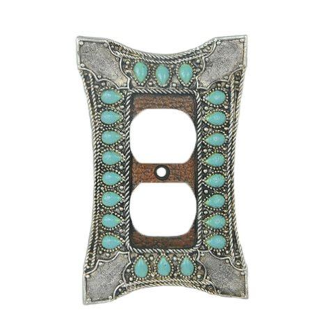 Turquoise Single Outlet Wall Plate