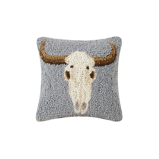 Cow Skull Hook Pillow