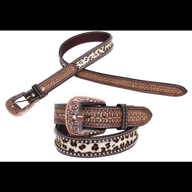 Leopard Print Hair On Belt