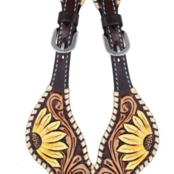 Painted Sunflower Spur Straps