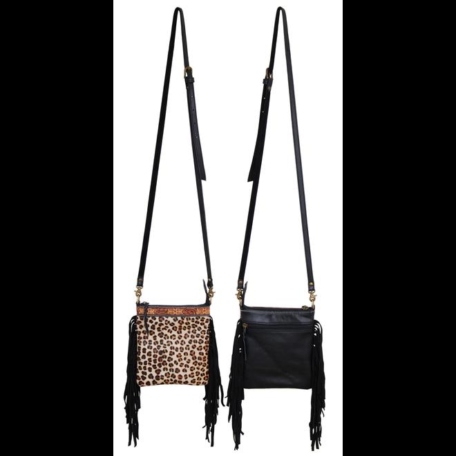 Leopard Hair On Crossbody Bag