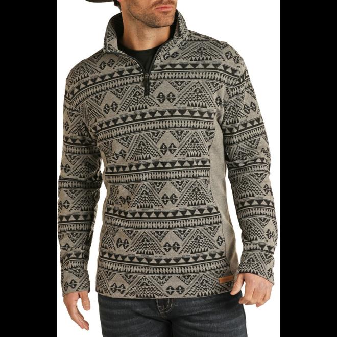 Aztec Knit 1/4 Zip Pullover