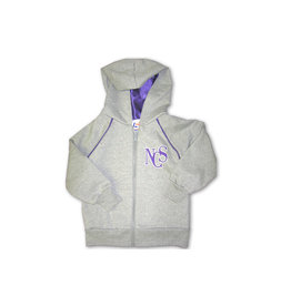 JACKET-GRY/PUR-CHILD-HOODED