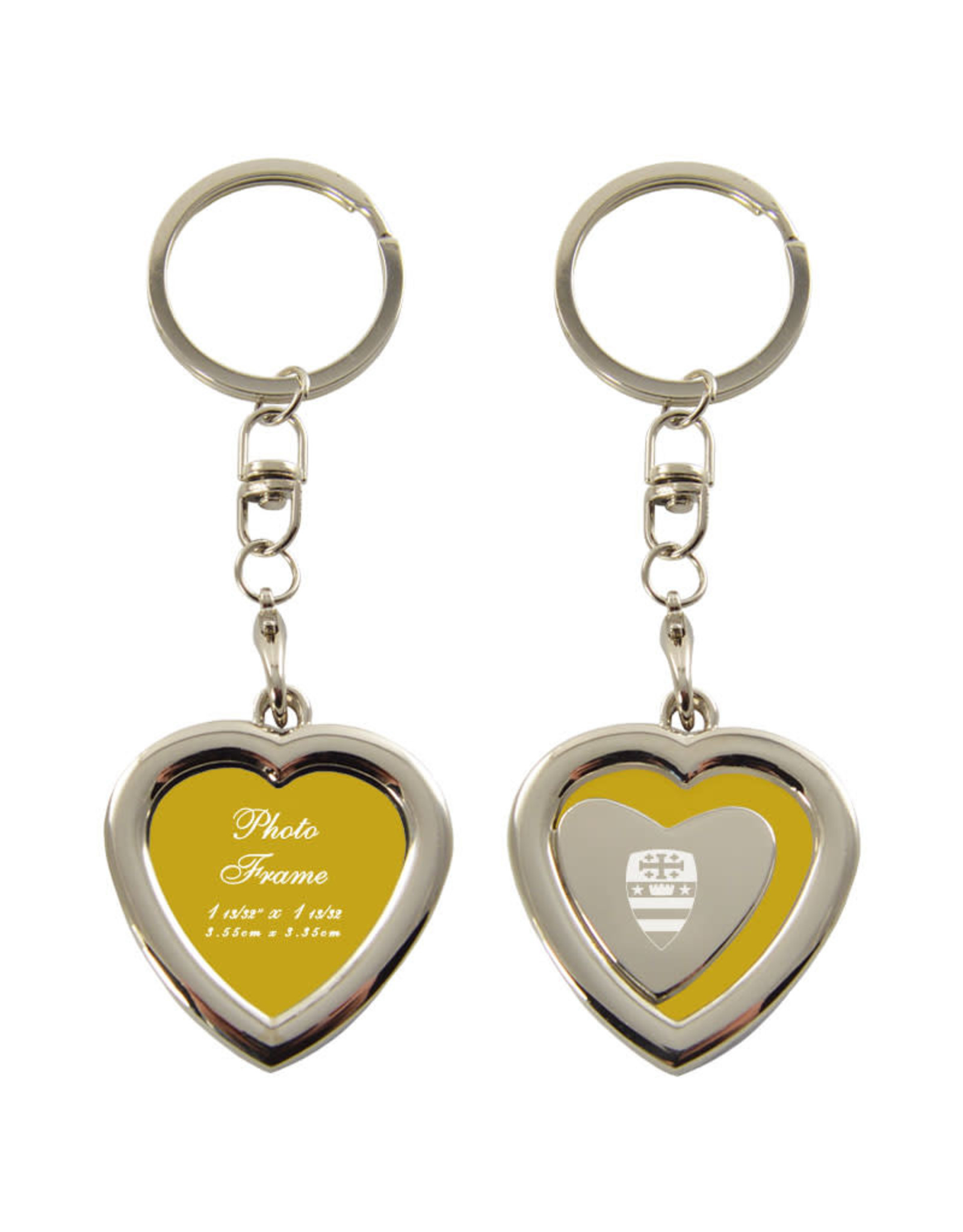 KEY TAG HEART GLD