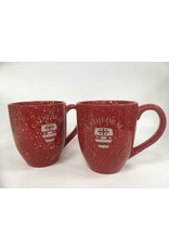 MUG-SPECKLED RED