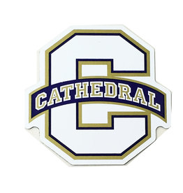 MAGNET-BIG C CATHEDRAL LOGO