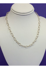 NECKLACE-SILVER OVAL LINK 16IN