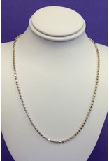 NECKLACE-SILVER BEAD CHAIN 16