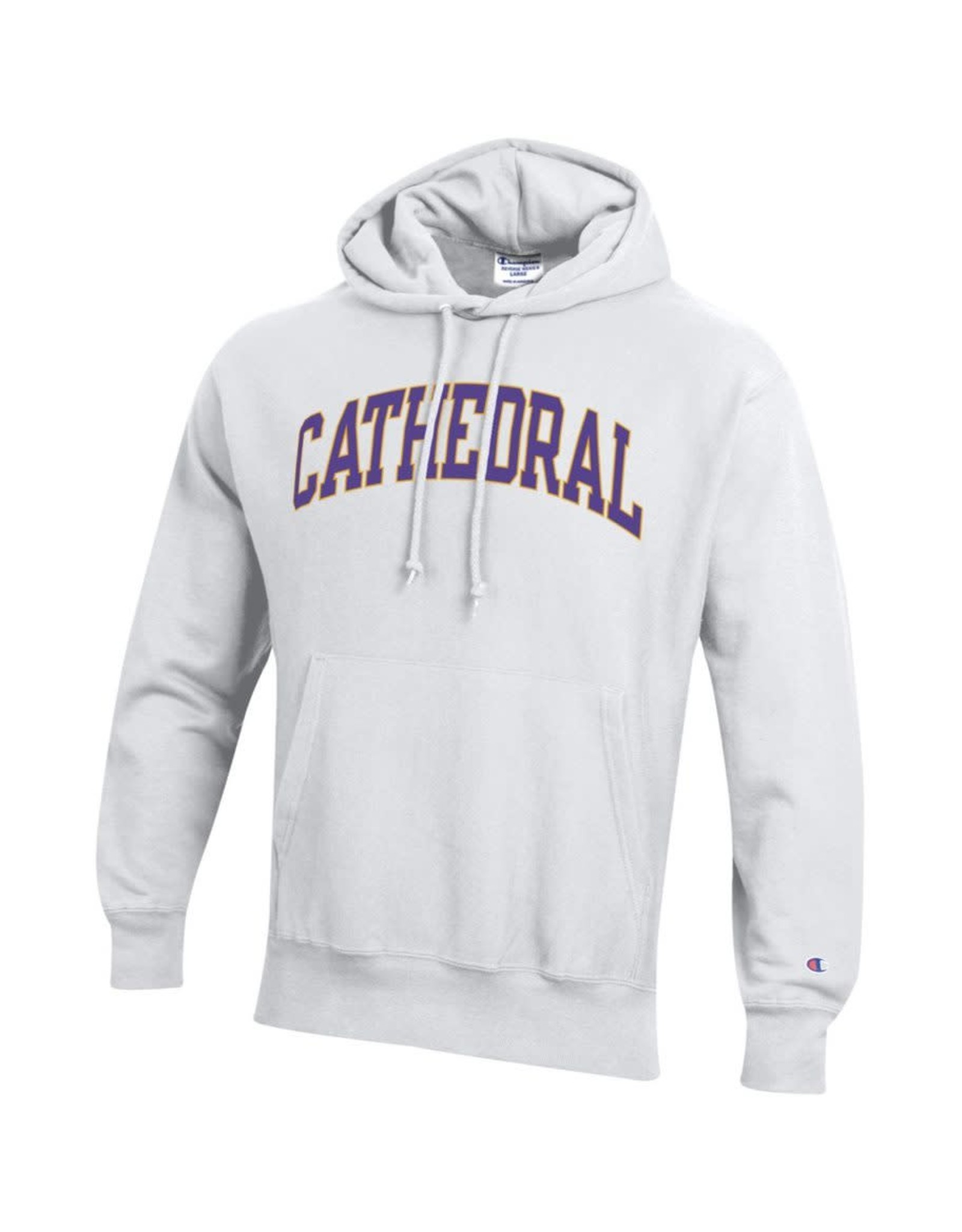 SWEATSHIRT-HOOD CATHEDRAL WHITE