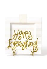Happy Everything White Stripe Big Platter