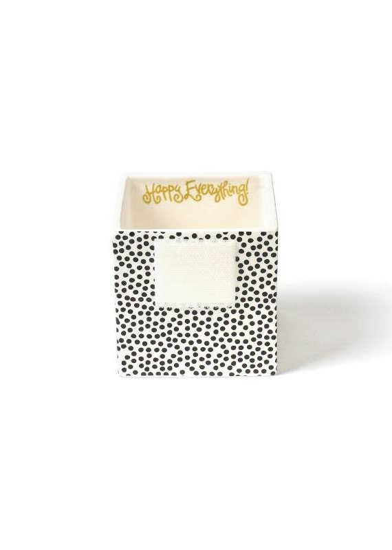 Happy Everything Black Small Dot Mini Nesting Cube Small