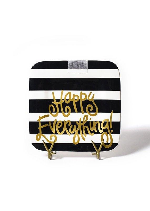 Happy Everything Black Stripe Mini Platter