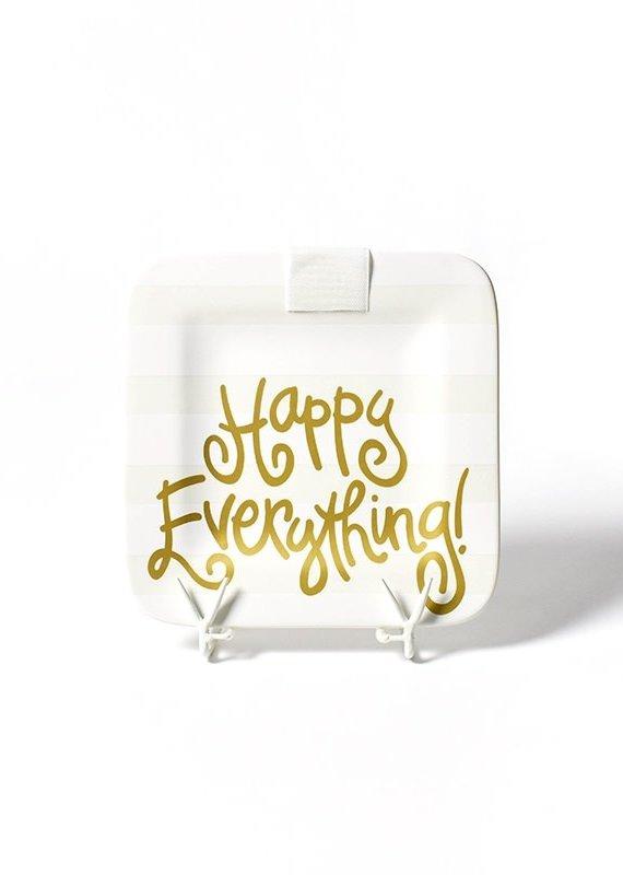 Happy Everything White Stripe Mini Platter