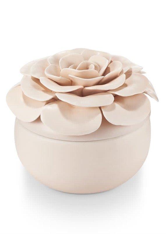Coconut Milk Mango Ceramic Flower